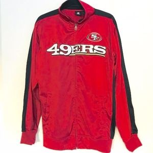 NFL 49ers Zip Up Red and Black Jacket Medium Tall